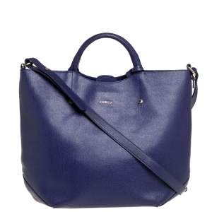 Furla Purple Leather Alissa Tote