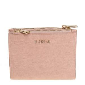 Furla Pink Leather Compact Wallet