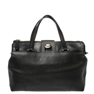 Furla Black Leather Satchel