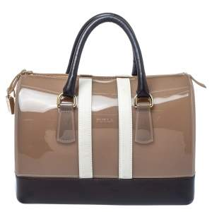 Furla Tri Color Rubber and Leather Medium Candy Satchel