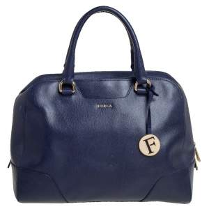 حقيبة فورلا تيسا جلد أزرق كحلي
