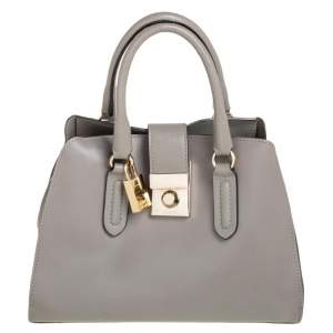 Furla Grey Leather Mira Crossbody Bag