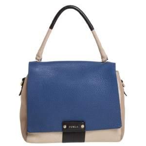 Furla Multicolor Leather Flap Top Handle Bag