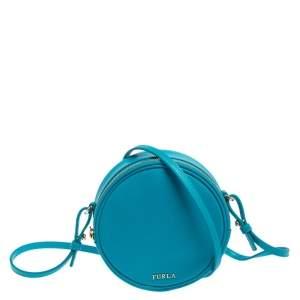 Furla Turquoise Leather Yoyo Crossbody Bag