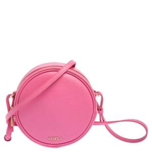 Furla Pink Leather Yoyo Crossbody Bag