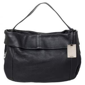Furla Black Leather Hobo