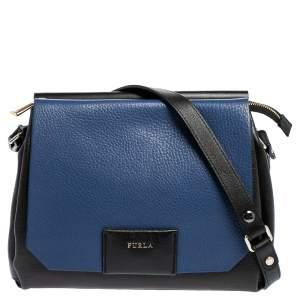 Furla Tri Color Leather Meridienne Shoulder Bag