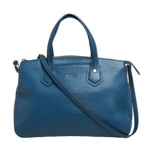 Furla Blue Leather Large Giada Satchel
