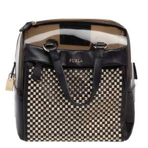 Furla Black PVC And Leather Candy Satchel