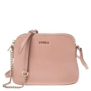 Furla Pink Leather Milky Crossbody Bag