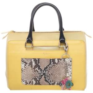 Furla Yellow Rubber and Leather Candy Bag