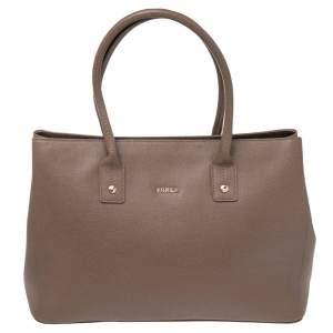Furla Brown Leather Linda Tote