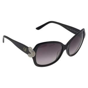 Gianfranco Ferre Black GF974-02 Crystal Embellished Gradient Square Sunglasses