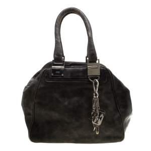 Gianfranco Ferre Grey Leather Satchel