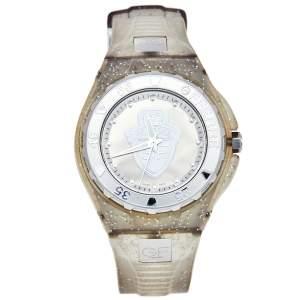 ساعة يد نسائية جيانفرانكو فيري GF.9024J للجنسين ستانلس ستيل ومطاط فضية 43 مم