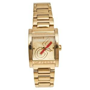 GF Ferre Champagne Gold Plated Stainless Steel GF.9046L/25M Women's Wristwatch 26 mm