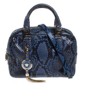 حقيبة فرساتشي جلد ثعبان زرقاء