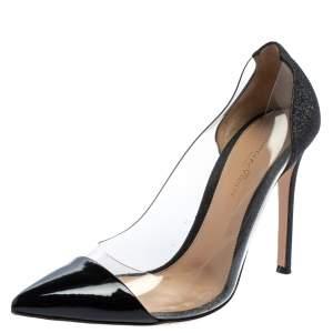 Gianvito Rossi Black Patent Leather And PVC Plexi Pumps Size 38