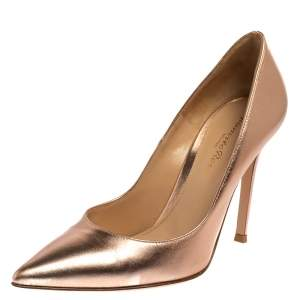 Gianvito Rossi Metallic Leather Pumps Size 36