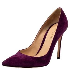 Gianvito Rossi Purple Suede Pumps Size 37.5