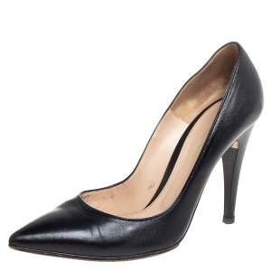 Gianvito Rossi Black Leather Pointed Toe Pumps Size 39