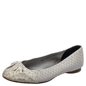Gina Grey Python Leather Ballet Flats Size 38.5