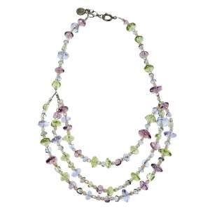 Giorgio Armani Multicolor Glass Beaded Multi Strand Necklace