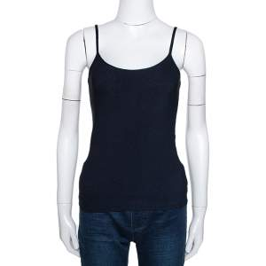 Giorgio Armani Navy Blue Knit Fitted Camisole L
