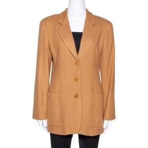 Giorgio Armani Vintage Brown Herringbone Wool Blazer M