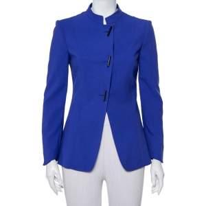 Giorgio Armani Purple Wool Button Front Jacket M