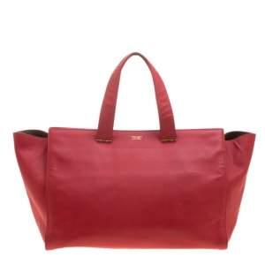 Giorgio Armani Red Leather Tote