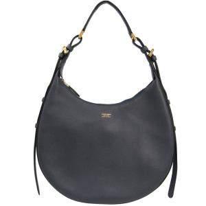 Giorgio Armani Gray Leather Shoulder Bag