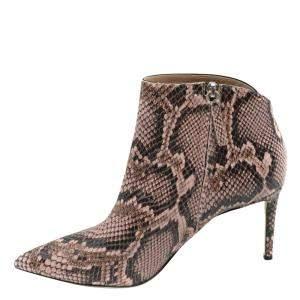 Giuseppe Zanotti Snakeskin Print Ankle Boots Size EU 40
