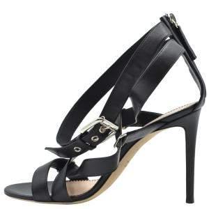 Giuseppe Zanotti Black Leather Larissa Sandals Size EU 38