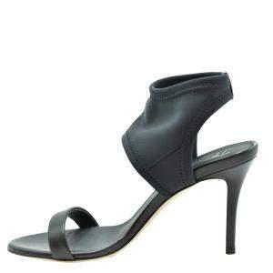 Giuseppe Zanotti Black Nylon Crystal Logo Sandals Size EU 36