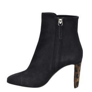 Giuseppe Zanotti Black Jessica Ankle Booties Size EU 37