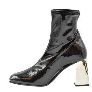 Giuseppe Zanotti Black Latex Booties Size EU 38