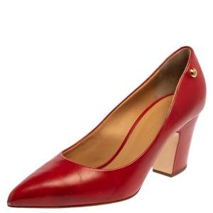 Giuseppe Zanotti Red Leather Pointed Toe Pumps Size 40