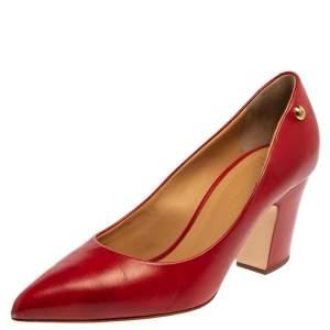 حذاء كعب عالى جوسيبى زانوتى مقدمة مدببة جلد أحمر مقاس 40