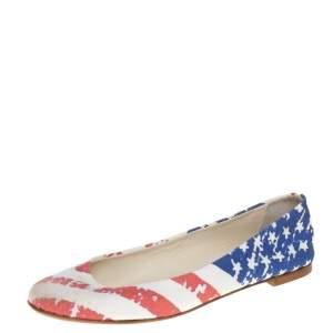 حذاء فلات باليه جوسيبى زانوتى قماش أبيض مقاس 36
