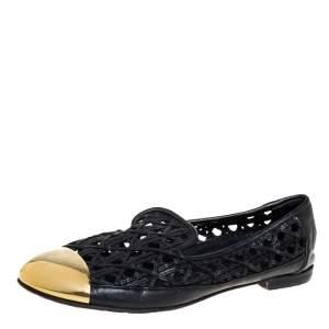 Giuseppe Zanotti Gold Leather Cap Toe  Slip On Loafers Size 37