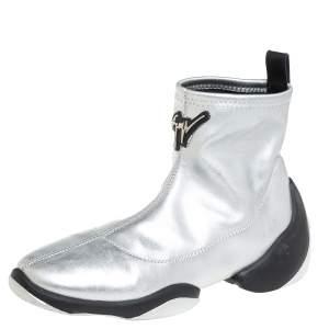 Giuseppe Zanotti Silver Leather Light Jump HT3 Ankle Boots Size 37.5