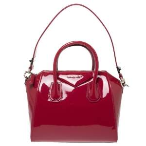 Givenchy Magenta Patent Leather Small Antigona Satchel