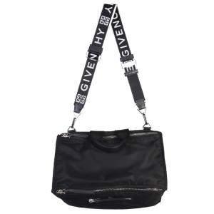 Givenchy Black Leather Pandora Messenger Bag