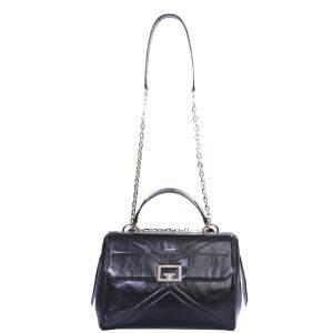 Givenchy Black Leather Crinkled ID Medium Bag