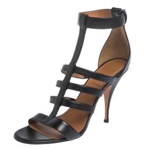 Givenchy Black Leather Kali Strappy Sandals Size 41