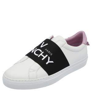 Givenchy White/Black/Purple Urban Street Logo Sneakers Size EU 37
