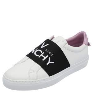 Givenchy White/Black/Purple Urban Street Logo Sneakers Size EU 38.5