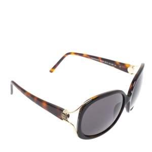 Givenchy Black & Havana/ Grey SGV762 Oversized Sunglasses