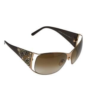 """نظارة شمسية جيفنشي """"أس جي ڨي 364أس"""" إصدار محدود كبيرة الحجم غرادينت بني و مزخرفة كريستال مورد بني"""